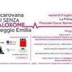 Locandina carovana Reggio