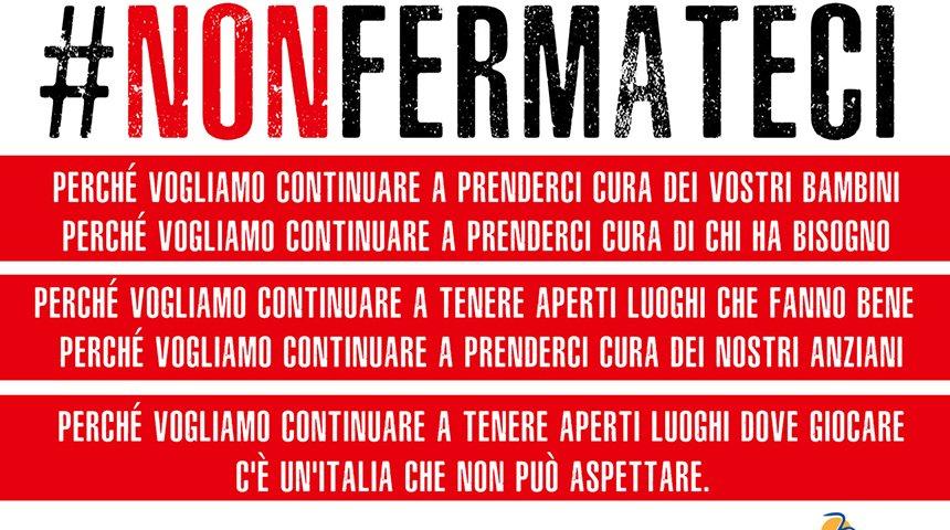 Coronavirus, il Forum Terzo Settore lancia la campagna #nonfermateci