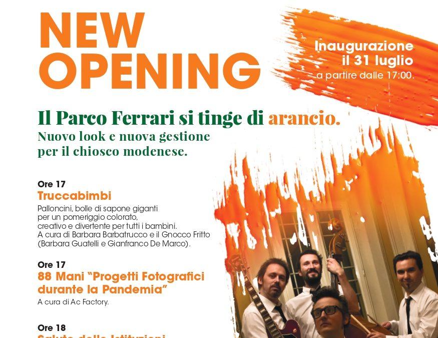 Inaugurazione Orange 182: il Parco Ferrari si tinge di arancione
