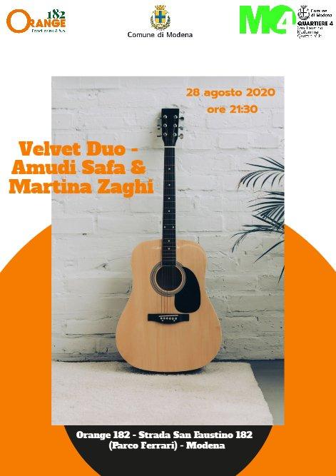 Velvet Duo at Orange 182 – 28 agosto 2020