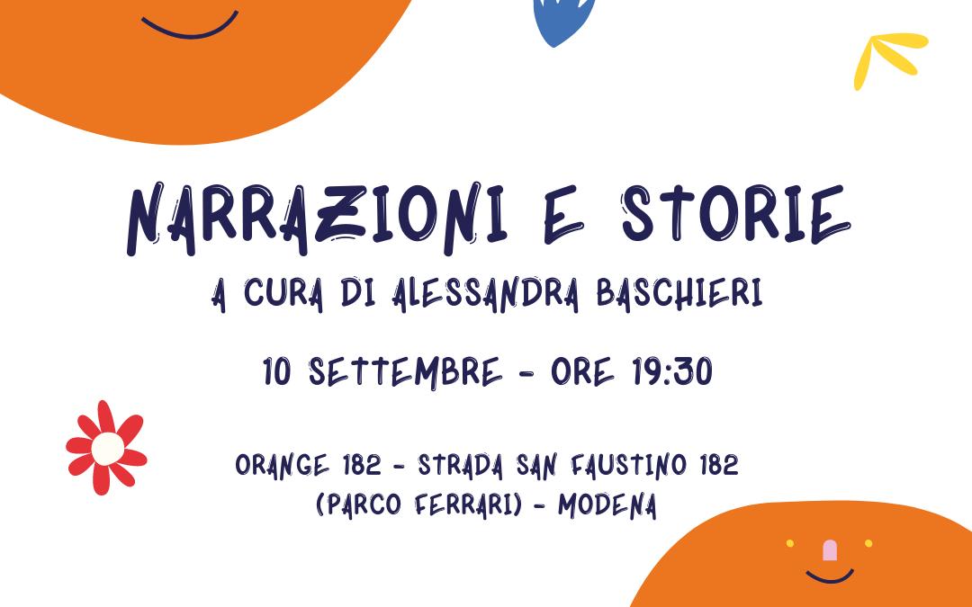 Narrazioni e storie a cura di Alessandra Baschieri